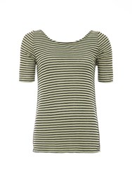 Garcia Striped Top With Layered Back Multi Coloured