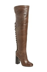 Vince Camuto Women's Tolla Wide Calf Over The Knee Boot Bomber Grey