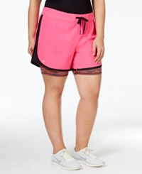 Ideology Plus Size 2 In 1 Shorts Only At Macy's Molten Pink