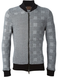 Relive Hounds Tooth Bomber Jacket Black
