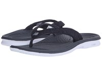 New Balance Cush Heathered Thong White Black Women's Sandals