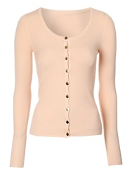 Jane Norman Scoop Neck Cardigan Peach