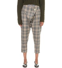 Anglomania Tartan Wool Tapered Trousers Mc Stone