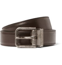 Dolce And Gabbana 2.5Cm Brown Leather Belt Brown