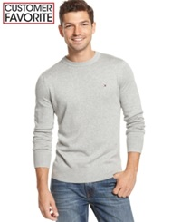 Tommy Hilfiger Signature Solid Crew Neck Sweater Grey Heather