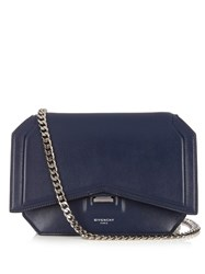 Givenchy Bow Cut Leather Cross Body Bag Blue