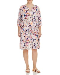 Nydj Plus Abstract Print Dress Springtide Floral