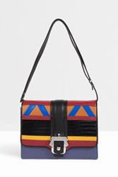 Paula Cademartori Leather Patchwork Messenger Multi