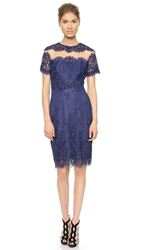 Notte By Marchesa Short Sleeve Cocktail Dress Blue