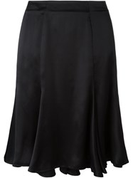 Olympia Le Tan Pleated Skirt Black