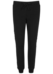 Pam And Gela Betsee Crochet Insert Jogging Trousers Black