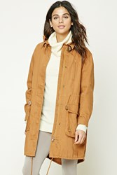 Forever 21 Buckle Neck Utility Jacket