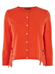 Karen Millen Floral Lace Cardigan Orange