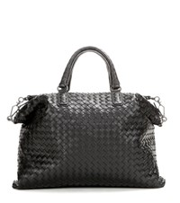 Bottega Veneta The Convertible Intrecciato Leather Tote Black