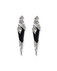 Shattered Spike Drop Earrings Black Alexis Bittar