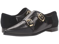 Ted Baker Naoi Black Box Leather Suede Women's Flat Shoes Brown
