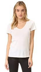Ag Jeans Kiara V Neck Tee Powder White