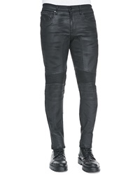 Belstaff Eastham Resin Coated Skinny Jeans Black