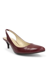 Ellen Tracy Tina Slingback Pumps Red