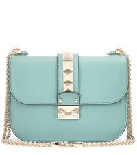 Valentino Lock Small Leather Shoulder Bag Turquoise