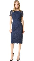 Shoshanna Beaux Lace Dress Navy Blue