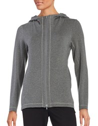 Eileen Fisher Long Sleeve Hooded Jacket Ash Grey