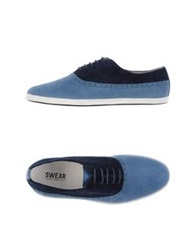 Swear London Lace Up Shoes Pastel Blue