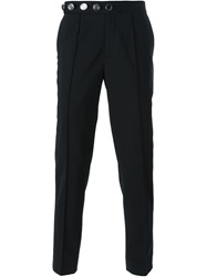 Versus Logo Button Tailored Trousers Black