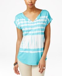 American Living Tie Dyed Top Only At Macy's Key West Blue Multi