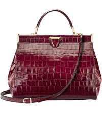 Aspinal Of London The Dockery Large Embossed Leather Handbag Bordeaux