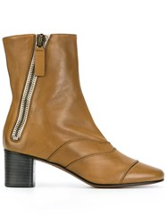 Chloe 'Lexie' Ankle Boots Nude And Neutrals