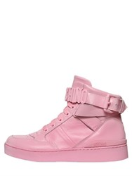 Moschino 35Mm Leather High Top Sneakers