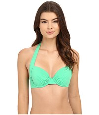 Tommy Bahama Pearl Underwire Full Coverage Cup Bra Top Clearwater Green Women's Swimwear