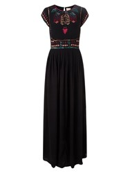 East Sequin Detail Maxi Dress Black