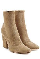 Sergio Rossi Virgina Suede Ankle Boots Blue
