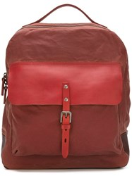 Ally Capellino 'Ian' Zip Around Backpack Red