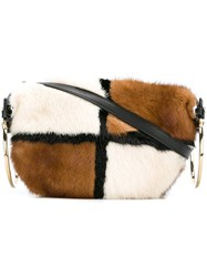 Salvatore Ferragamo Fur Crossbody Bag White