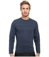 Royal Robbins Pigment Terry Long Sleeve Crew Navy Men's Long Sleeve Pullover