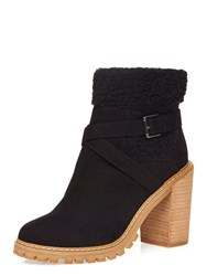 Dorothy Perkins Maple Fur Ankle Boots Black