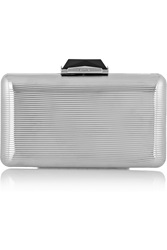 Kotur Espey Embossed Silver Tone Brass Clutch