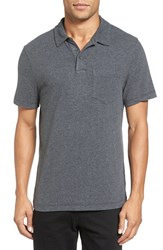 James Perse Men's Short Sleeve Jersey Polo Heather Charcoal