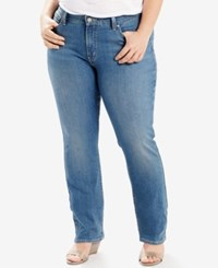 Levi's Plus Size 414 Relaxed Fit Northwest Sky Wash Straight Leg Jeans