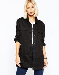 Cheap Monday Longline Denim Jacket Black