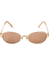 Jean Paul Gaultier Vintage Perforated Sunglasses Metallic
