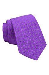 Gitman Brothers Vintage Men's Geometric Woven Silk Tie Purple