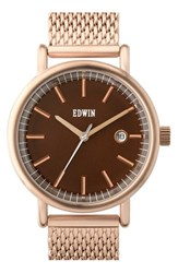 Women's Edwin 'Epic' Mesh Strap Watch 38Mm