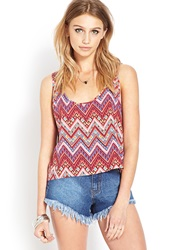 Forever 21 Favorite Tribal Print Tank Red Blue