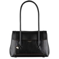 Radley Boundaries Leather Medium Tote Bag Black