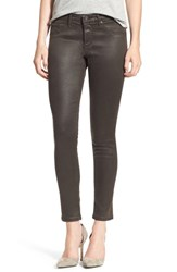 Ag Jeans Women's 'The Legging' Coated Ankle Vintage Leather Bordeaux Brown