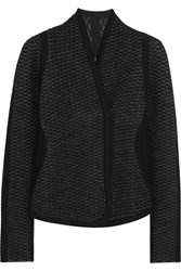 Gucci Waffle Knit Wool Blend Jacket Anthracite